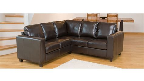 Corner Sofa In Leather Leather Corner Sofa In Black Brown Ivory Homegenies