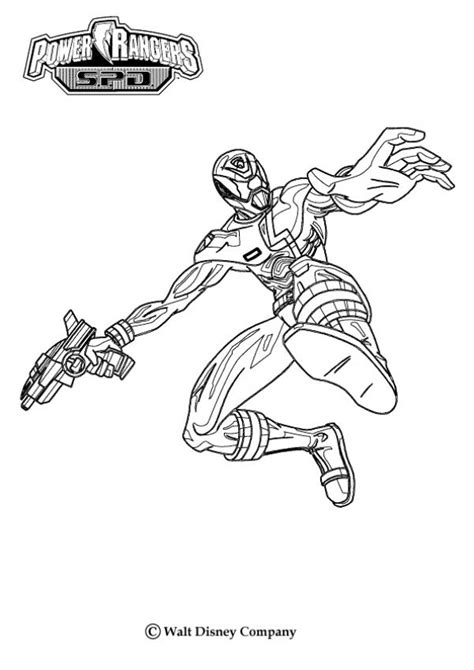 Armed Ranger Coloring Pages Hellokids Com
