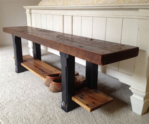 recycled wood bench reclaimed wood bench the coastal craftsman
