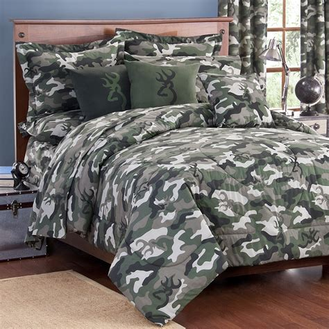 make your own adventure in bedroom with camo bedding