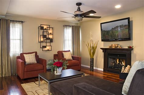 transitional family room contemporary living room