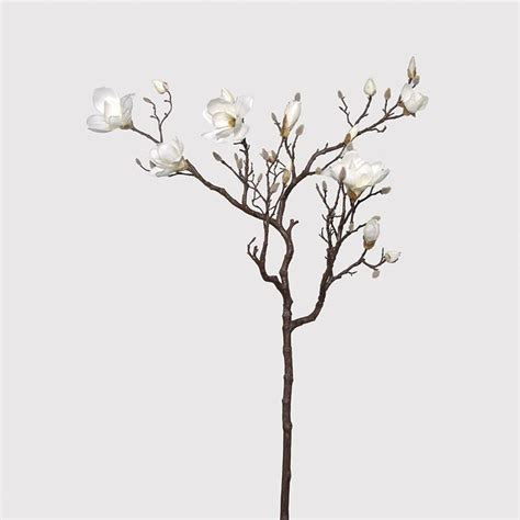 2 x giant artificial cream magnolia tree branches
