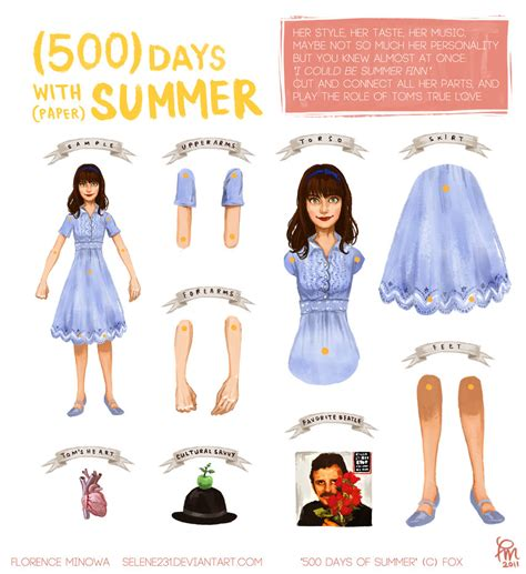 Papercraft Dolls - 500 days of summer paper doll by flominowa on deviantart