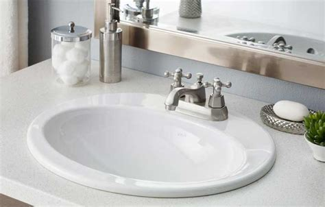 how to install a drop in bathroom sink cheviot drop in bathroom sinks