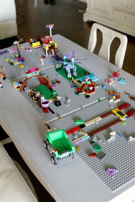 Collection of Lego Table Made Diy Youtube Attractive Big Lego Table ...