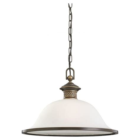 Seagull Lighting Pendant Sea Gull Lighting Laurel Leaf 1 Light Estate Bronze Pendant 65350 708 The Home Depot