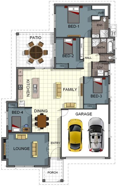 model 5 4 bedroom 2 floor plan house design 4 bedroom 2 bathroom garage theatre room laundry