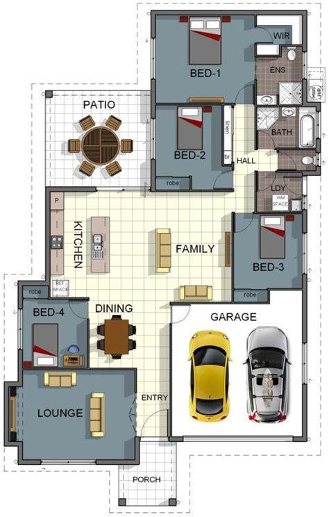 Laundry House Design | floor plan house design 4 bedroom 2 bathroom double
