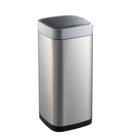tall trash can with lid