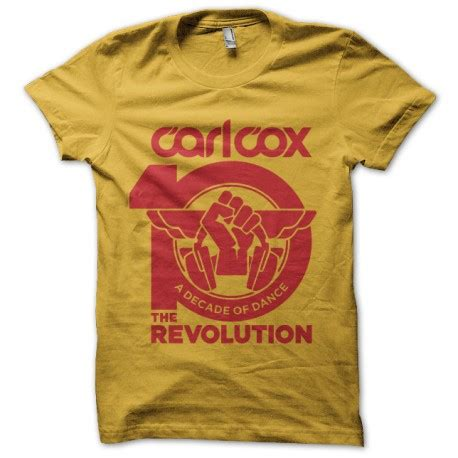 T Shirt Carlcox 1 carl cox revolution t shirt yellow