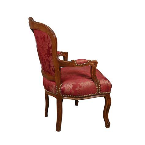 poltrona luigi xv poltrona luigi xv rossa in legno arredo barocco