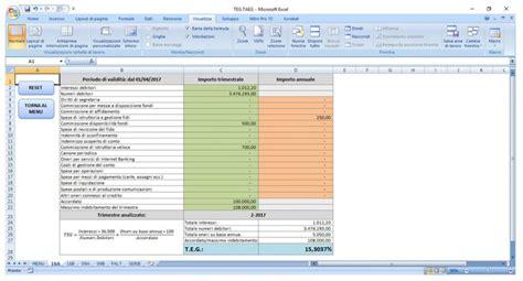 Banca D Italia Taeg by Teg E Taeg Per La Rilevazione Dell Usura Excel