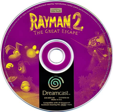 Cd Sevent Great Escape rayman 2 the great escape pal iso