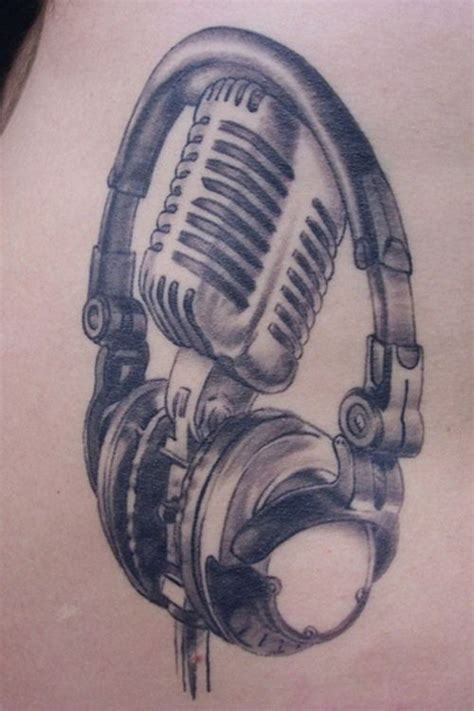 headphone tattoo designs part of my soonbe arm tattoos