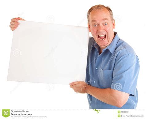 man holding man holding blank sign for your text to download man