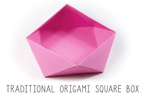 Japanese Origami Box - traditional origami square bowl