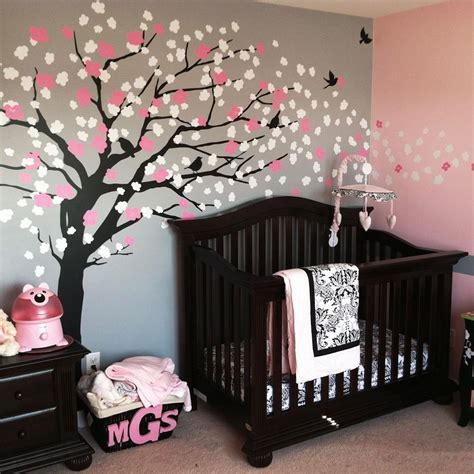 cherry home decor w093 brown cherry blossom tree for nursery large tree vinyl wall decal for kids room decor wall