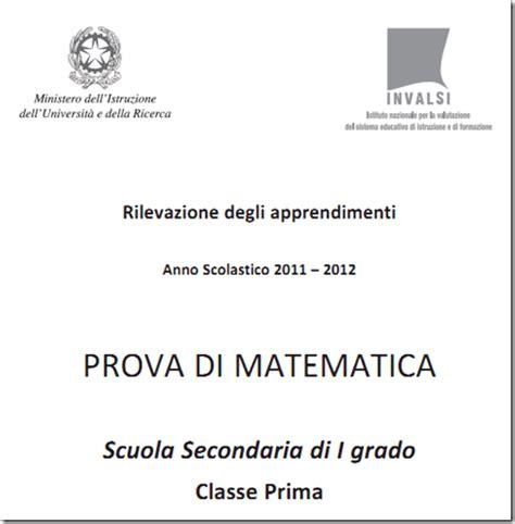 test ingresso terza media matematica soluzioni guidate prove invalsi matematica prima media