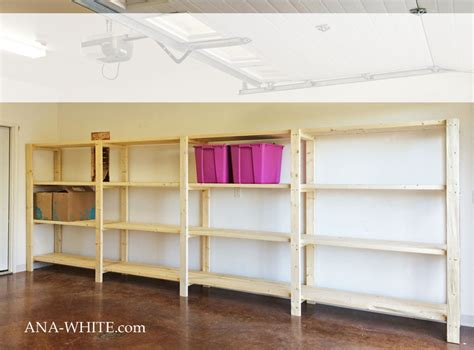 white easy economical garage shelving from 2x4s