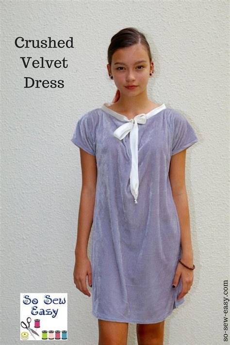Sewing Pattern Velvet Dress | crushed velvet dress free sewing pattern allfreesewing com