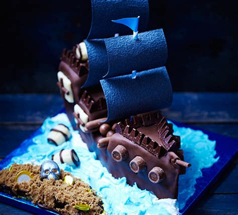 Pi E Ship And Treasure Island Cake Recipe Bbc Good Food