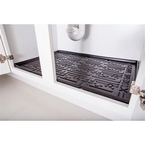 xtreme mats under sink kitchen cabinet mat reviews wayfair xtreme mats black kitchen depth under sink cabinet mat