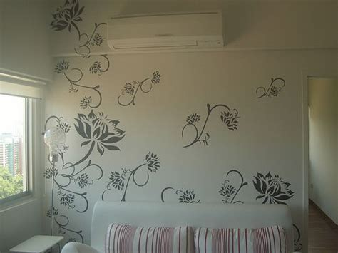 wall paint stencil designs wall with paint house