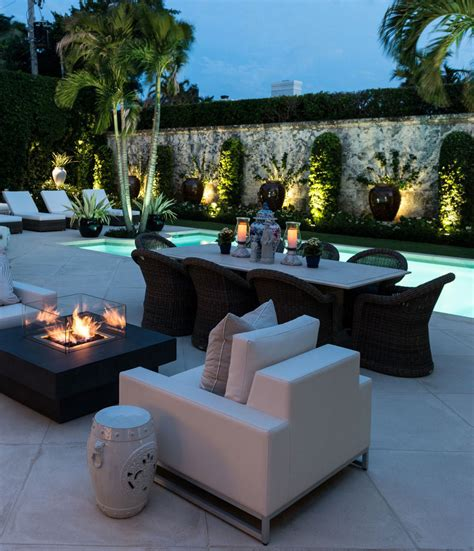 patio space elegant regency style palm beach villa combines classic