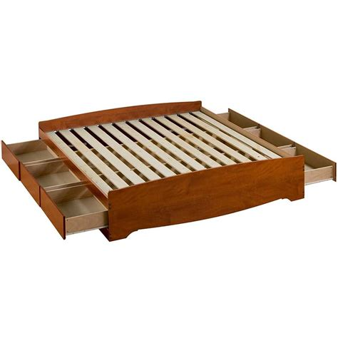 King Storage Platform Bed Platform Storage Bed King Sized In Beds And Headboards