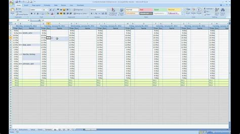 excel contact appointment scheduler youtube