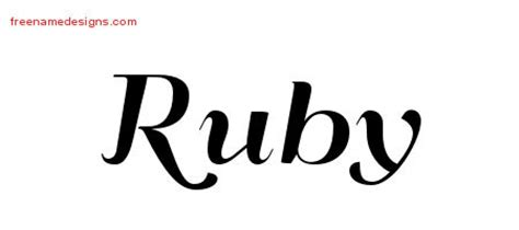 tattoo ideas for the name ruby ruby archives free name designs