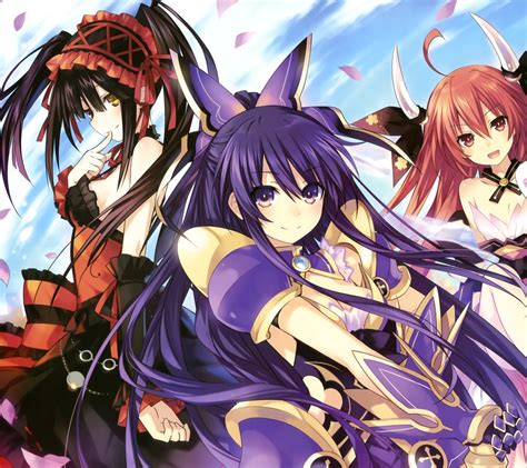 wallpaper android date a live date a live tohka yatogami android wallpaper kotori itsuka