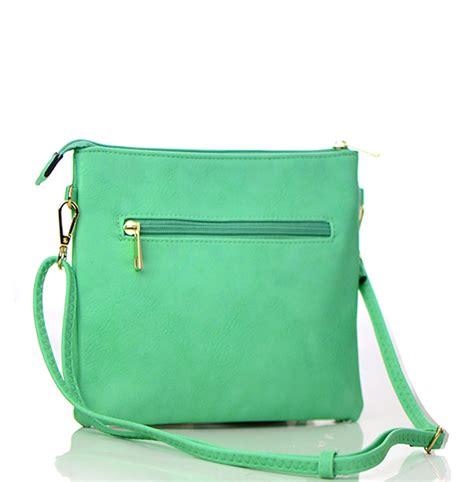 faux leather zipper crossbody bag 80831a 37887 mint