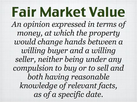 what s so fair about fair market value norcal valuation
