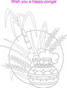 Pongal Pot Colouring Pages sketch template
