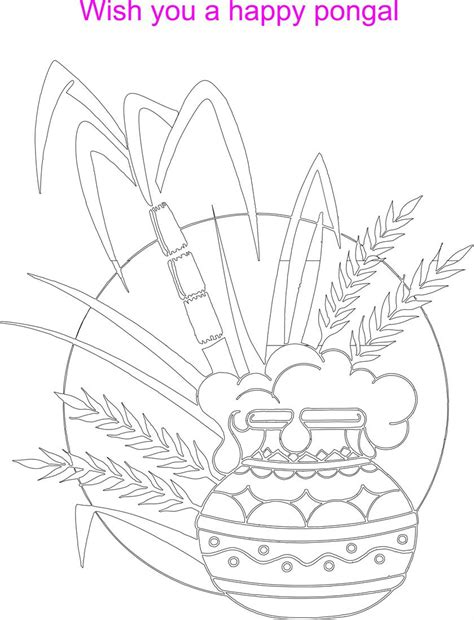 pongal festival coloring printable page for kids