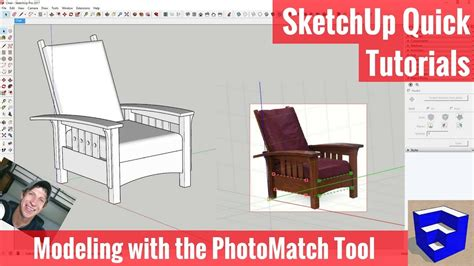 sketchup tutorial match photo modeling a chair with match photo in sketchup the