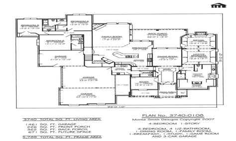 side garage floor plans garage 4 bedroom house floor plans house with garage on