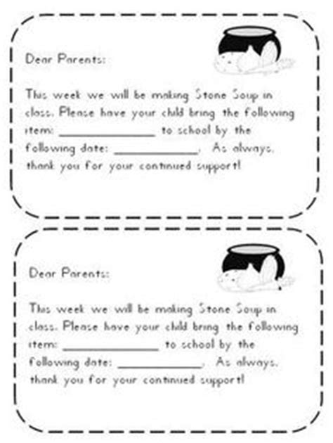 Mrs T S First Grade Class Stone Soup With Printables For