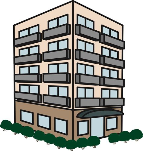 building clipart apartment building png plain apartment building png for