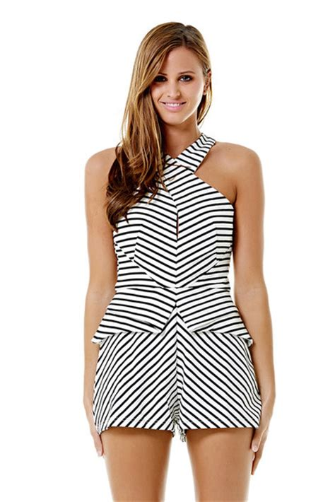 black and white patterned playsuit dress ustrendy playsuit ustrendy romper romper black