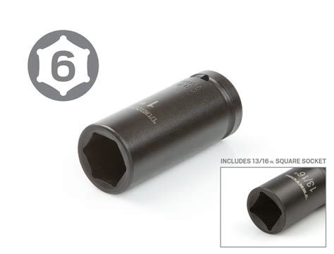 Tekiro Impact Socket 3 4 Inch 6 Pt 26 Mm Mata Sock Impact tekton 3 4 inch drive 6 point impact socket set inch