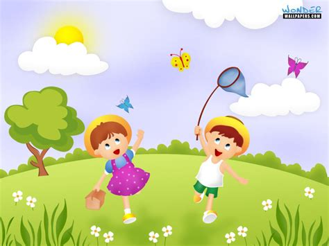 wallpapers for children spring season cartoon www pixshark com images