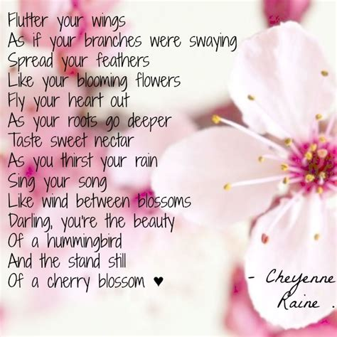 a cherry tree poem hummingbird poems and quotes quotesgram