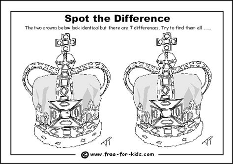 crown template ks2 find the difference activity sheets new calendar