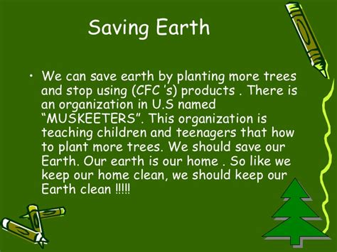 Plant Trees Save Earth Essay by Save Earth From Pollution