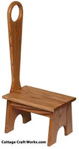 wooden step stool with handle for or