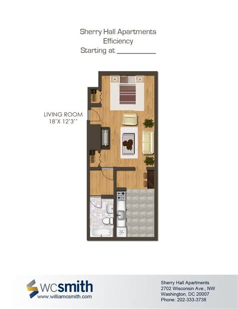 efficient studio layout sherry hall parks washington and floors