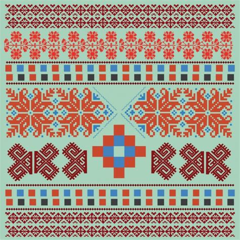 ornaments collections fabric ornaments collection vector free