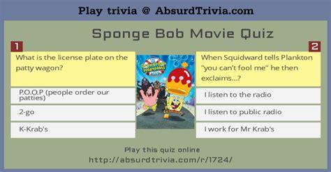 film clip quiz questions sponge bob movie quiz